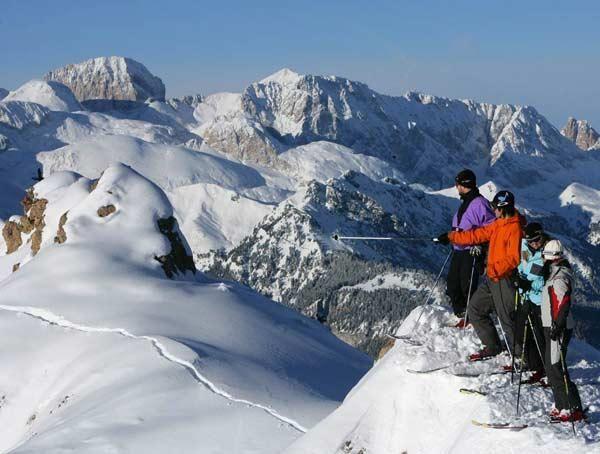 Sciare in Val di Fassa: che panorama :)