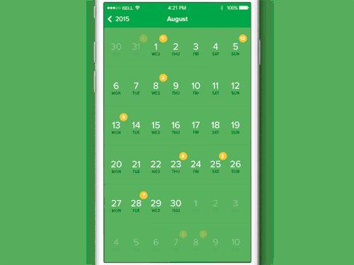 Flat calendar animation
