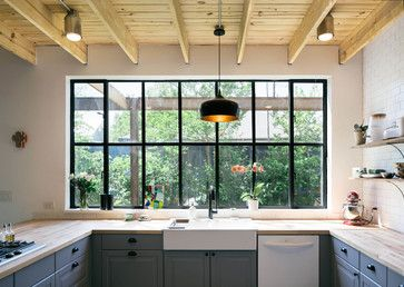 Garden St. Residence - industrial - Kitchen - Austin - PAVONETTI Office of Design