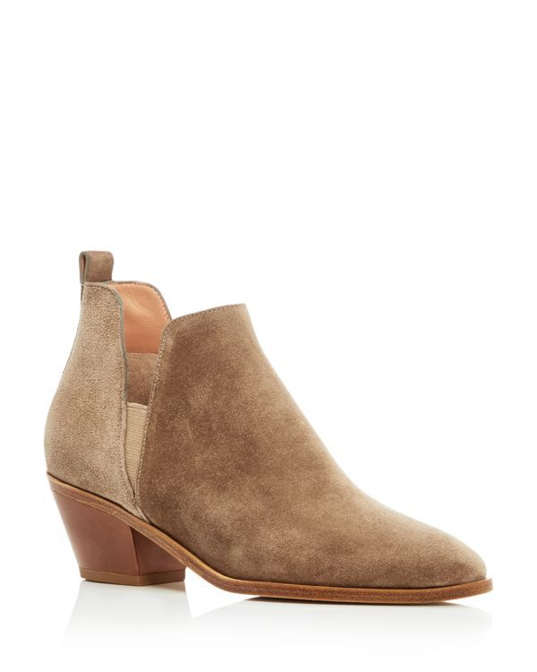 Side cutouts up the cool factor of go-to suede ankle booties by Sigerson Morrison. | Suede upper, leather lining, leather sole | Imported | Fits true to size, order your normal size      | Elastic gor
