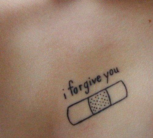 "LITTLE TATTOO IDEA - ""i forgive you"" patch / Black Ink"