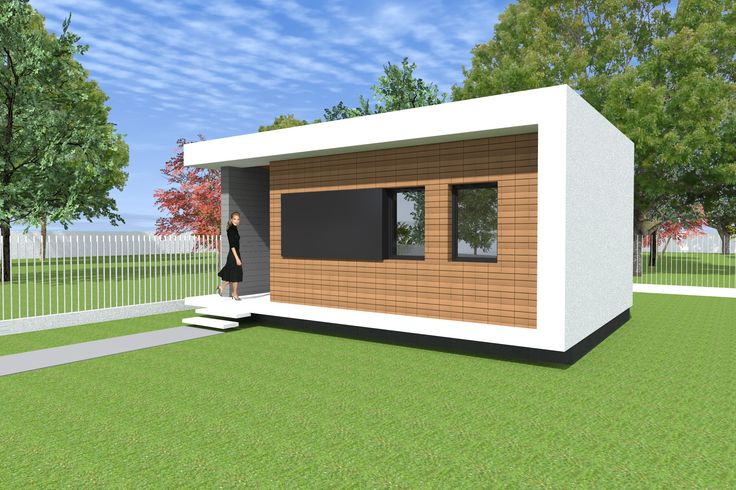Tiny little modern house. 32.56 square meters. 350 square feet. 1 bedroom
