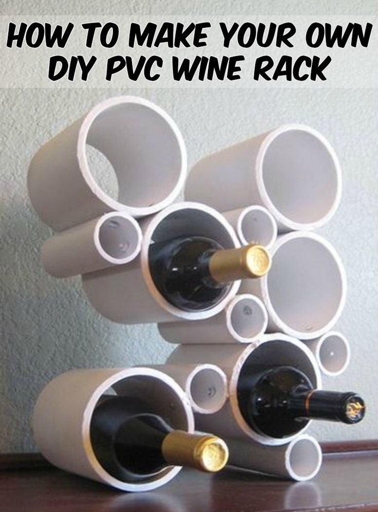 Learn How to Make Your Own Stylish Wine Rack from PVC Pipes!