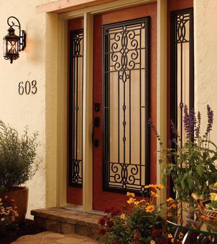 Odl doors odl decorative door glass bellflower for Full view exterior door
