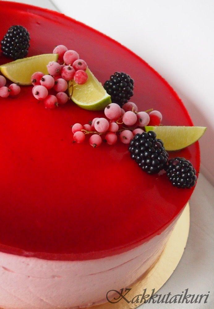 Kakkutaikuri: Raikas vadelma-lime -jogurttikakku