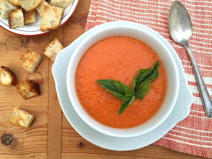 Creamy Tomato Soup (without a drop of cream). A healthy, easy vegan ...