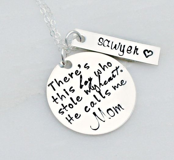 Hey, I found this really awesome Etsy listing at https://www.etsy.com/listing/167730943/hand-stamped-jewelry-mother-son-necklace