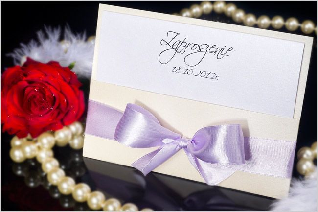 Zaproszenia ślubne perłowe PPKS