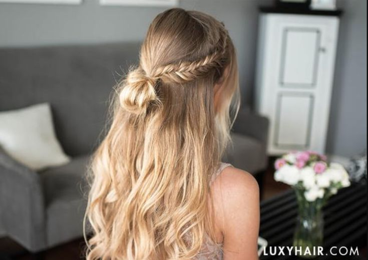 Bohemian and Girly Prom Hairstyle