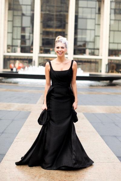 black wedding gown designed by angel sanchez