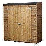 6x3 Overlap Wooden Garden Shed - Double Doors, Pent Roof & Felt, Garden Sheds by Waltons