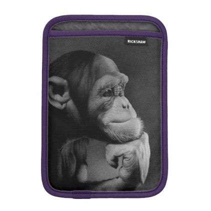 THE THINKER iPad MINI SLEEVE - black gifts unique cool diy customize personalize