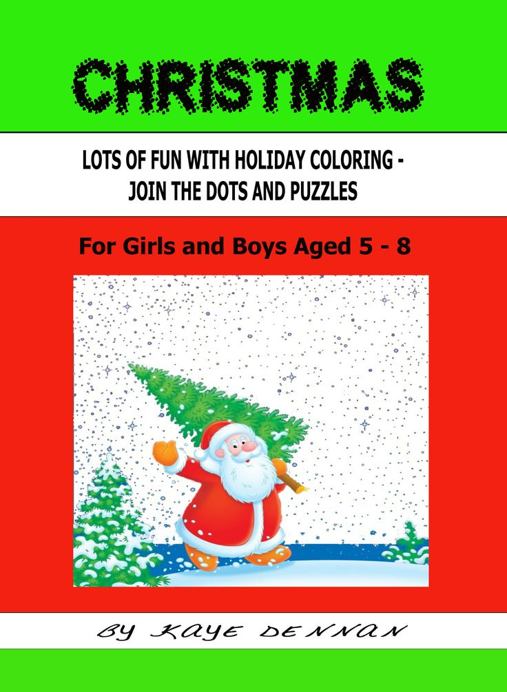 Childrens Christmas Activity book. Click to view. Coloring and join the dots.