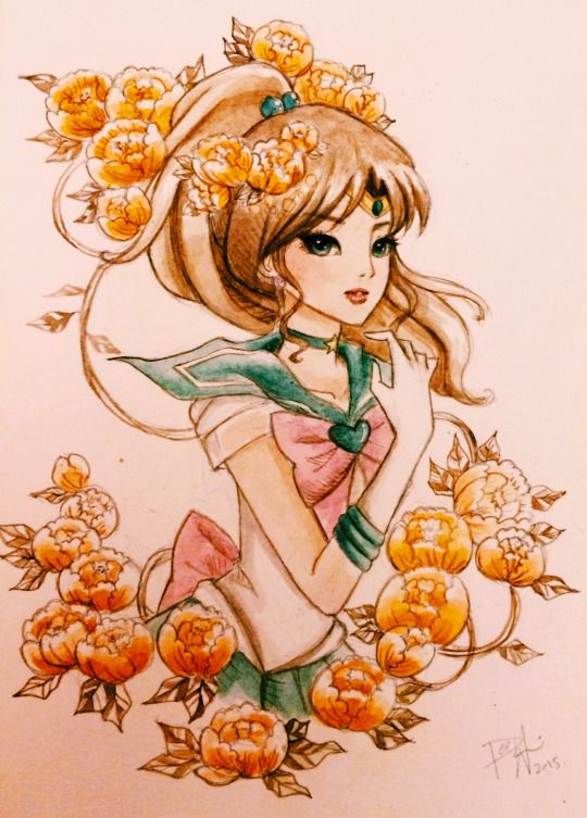 amaizing drawing of Sailor Jupiter from Sailor Moon