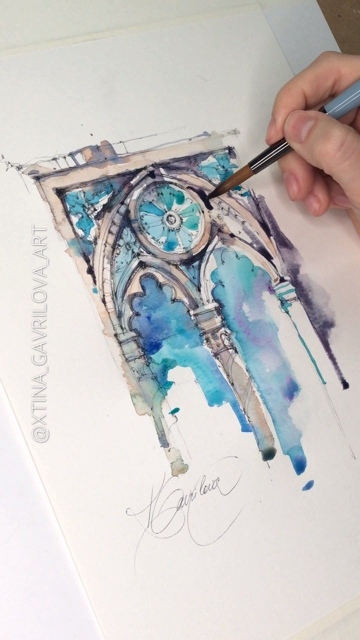 5 449 Likes 57 Comments Watercolor Artist Xtina Gavrilova Art
