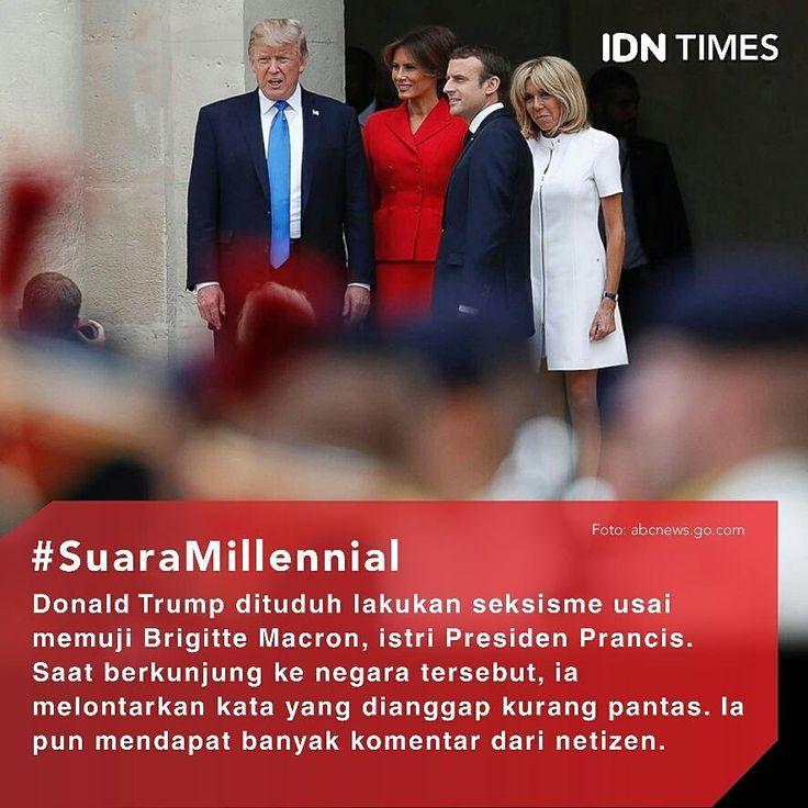 Komentari Bentuk Tubuh Ibu Negara Prancis, Trump Dikecam ----- Follow @IDNTimes - The Voice of Millennials and Gen Z ----- Pemilihan kata itu penting saat berinteraksi dengan orang-orang, terlebih lagi jika orang tersebut merupakan orang yang berpengaruh di negaranya. Guardian, (14/7),memberitakan bahwa Presiden Amerika Serikat, Donald Trump telah dituduh melakukan seksisme usai dia memuji Brigitte Macron, istri Presiden Prancis. Saat berkunjung ke negara tersebut, ia melontarkan kata-kata…