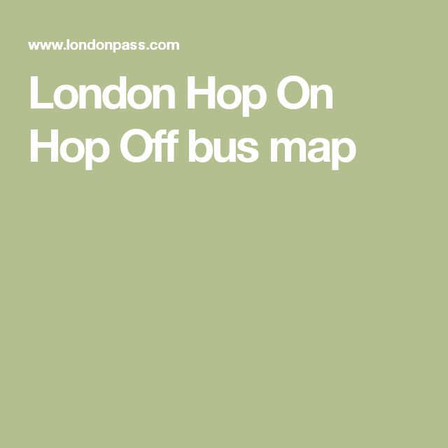 London Hop On Hop Off bus map