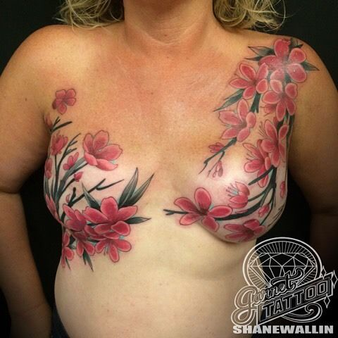 1000 images about tattoos for mastectomy breast for Pretty breast tattoos