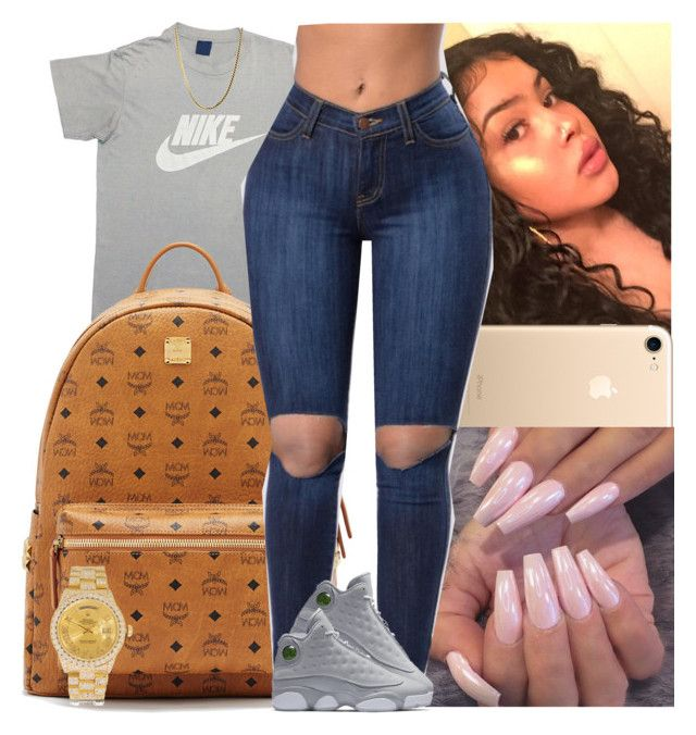 Untitled #1454 by msixo on Polyvore featuring polyvore fashion style NIKE Rolex MCM clothing