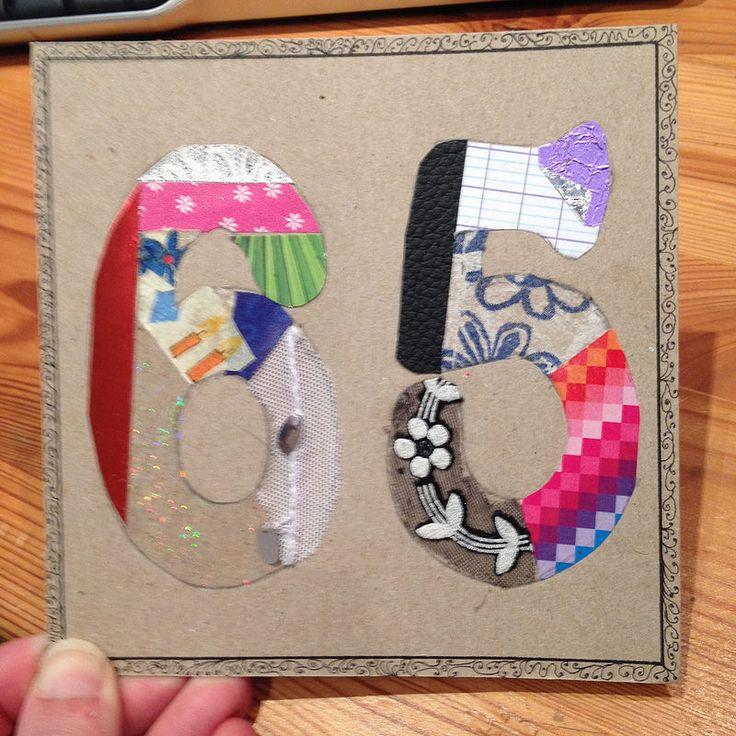 Lundi 13 avril - #43 - Carte d'anniversaire pour Môm (devinez quel âge elle a :)) - Carton de carton de 13x13cm et collage de différentes matières (papier à scrapbook - bolduc - brochure touristique - serviette en papier - intercalaire - papier d'apéricube - tissu de string - protège cahier - feuille seyes - emballage d'œuf de pâques.)  www.agoaye.com/projet-365/