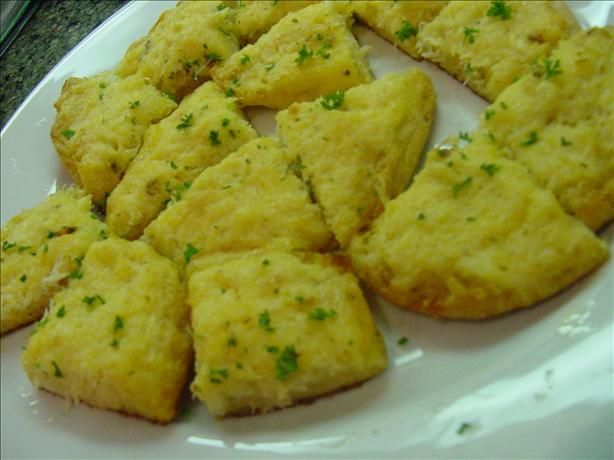 Crabbies from Paula Deen. Its basically an english muffin with a crab old english mixture on it and then baked.