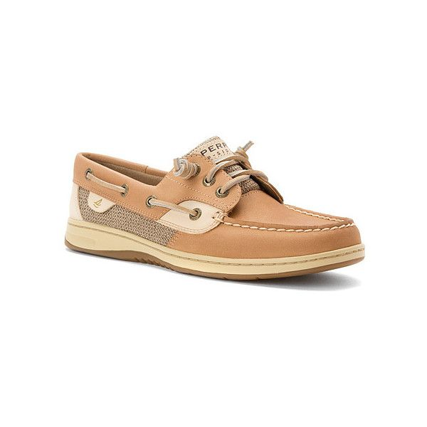 Sperry Ivyfish Slip-Ons ($90) ❤ liked on Polyvore featuring shoes, loafers, flats, sperry's, top sider shoes, boat shoes, deck shoes, loafers & moccasins and slip on moccasins