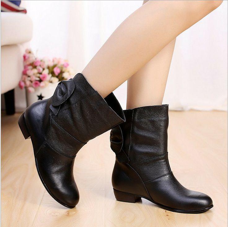 2014 sapatos de inverno da moda para motocicleta mulheres mulheres botas calçados femininos de couro genuíno bombas neve botas transporte li...