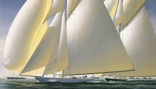 Jp Sailor America S Cup 1899 Columbia Vs Shamrock Painting By John Mecray Velers Ã�ットの