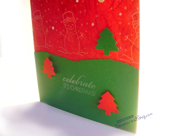 Celebrate Christmas Card / Handmade Greeting by ilovecreatingcards, $4.00