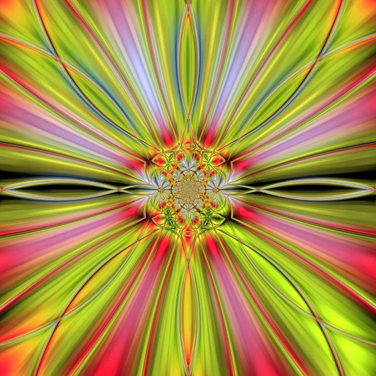 Jarní probuzení (č.4) Mandala pro podporu vnitřní síly, ma fyzické úrovni harmonizuje žlučník. počítačová grafika, rozměr A3, laminováno jako ochrana proti UV záření Dodáváno bez vodoznaku.
