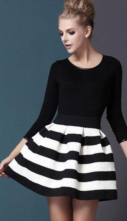 Striped skirt. i'm in love!