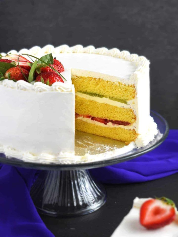 Honey Cake Roll With Condensed Milk Frosting Recipe Desserts Kiwi Cake Cake Recipes Honey Cake