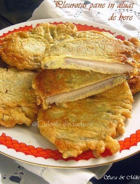 Pleurotus pane in aluat de bere o mancare rapida servita cu o garnitura si o salata alaturi. Fara ouale din aluat avem o mancare minunata de post.