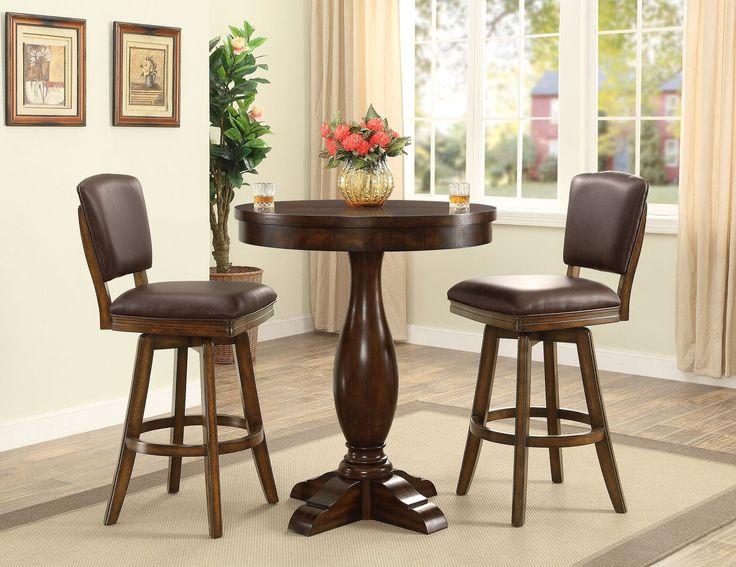 "ECI Furniture Walnut Trafalgar Square 60"" Round Dining Table"