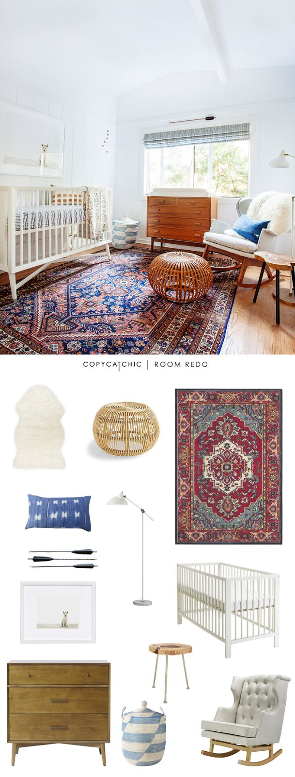 Copy Cat Chic: Copy Cat Chic | Mid-Century Eclectic Nursery by @audreycdyer