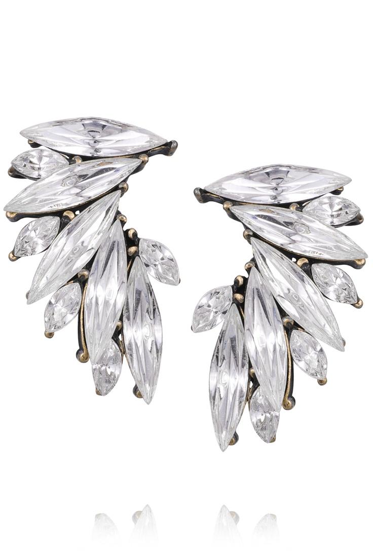 Vita swarovski vingar örhängen - Perfekta för bröllop *White Swarovski ving earrings - perfect for wedding