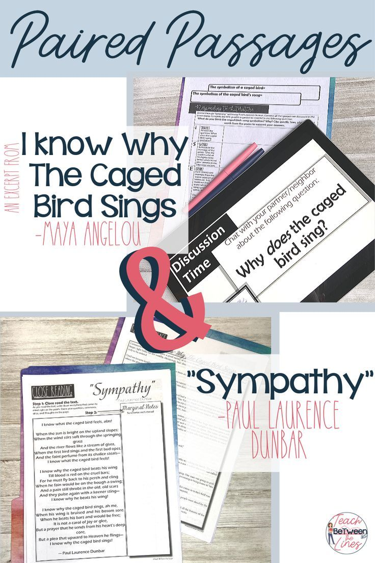I Know Why The Caged Bird Sing Paired Passage English Teaching Resource Wandered Lonely A Cloud Analysi Poem