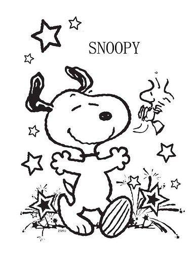 Imágenes de Snoopy para Dibujar y Colorear