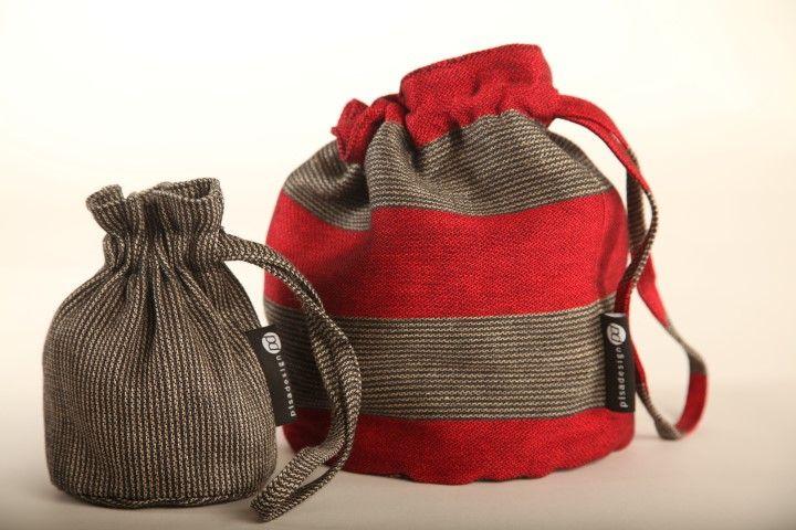 Linen sacs, pellavapussukoita. www.pisadesign.fi