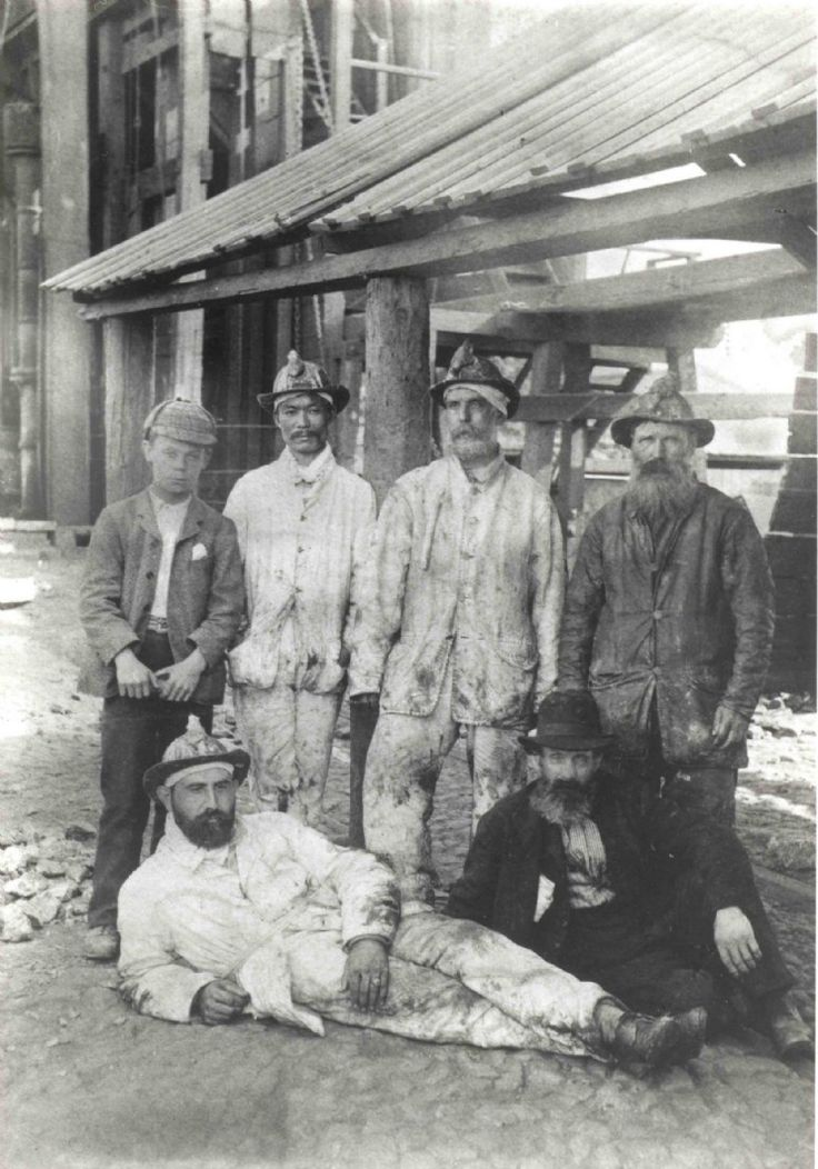 Dolcoath Mine Workers - Camborne Cornwall