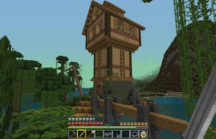 Guard Tower Minecraft Deco Pinterest Towers