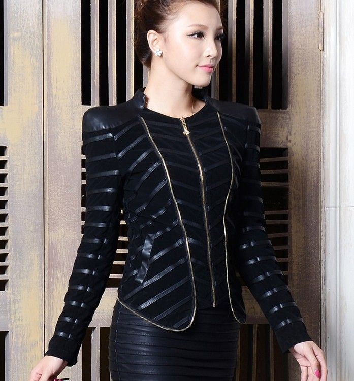 Motorcycle leather jacket women 2016 new fashion female leather clothing Short slim leather coat women outerwear black-in Leather & Suede from Women's Clothing & Accessories on Aliexpress.com | Alibaba Group