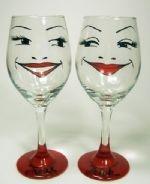 I love Jenni's painted glassware.