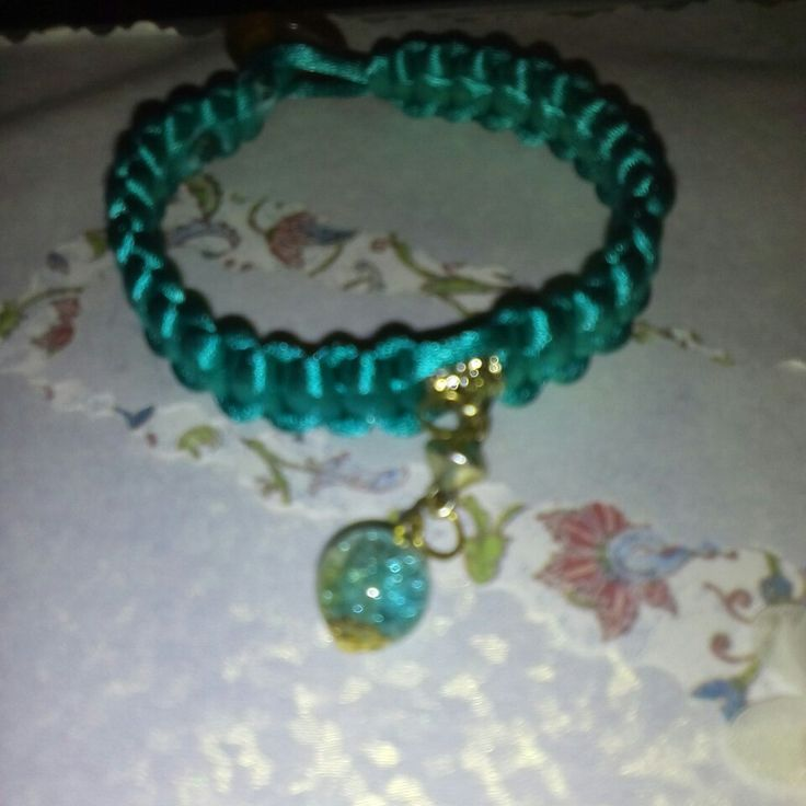 And a new macrame bracelet.