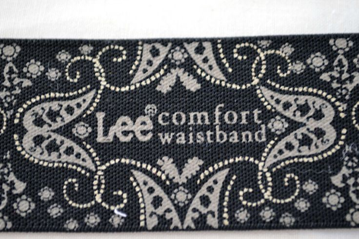 jean elastic, Lee comfort waistband. 4cm wide. black and white design by TheQuiltedCheese on Etsy