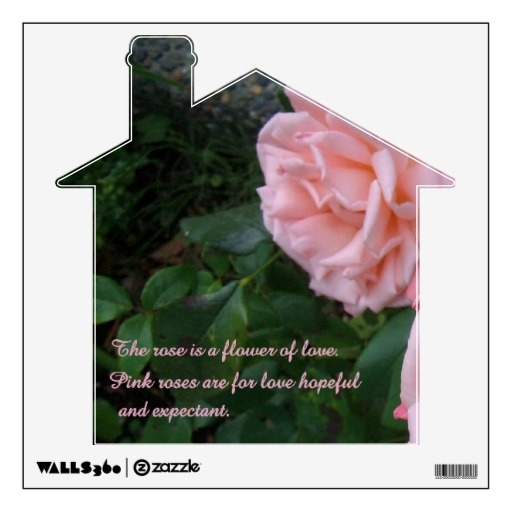 Rose of Love Home Decal  A home of love with roses for decor of any room