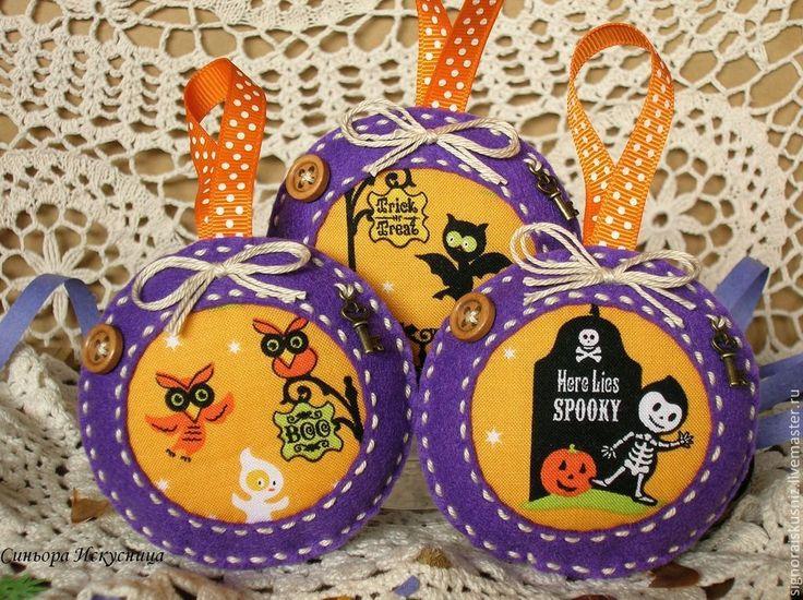 """Купить Интерьерные украшения """"Страшилки"""" - хеллоуин, страшилка, фиолетовый цвет, интерьерная игрушка, интерьерная композиция"""