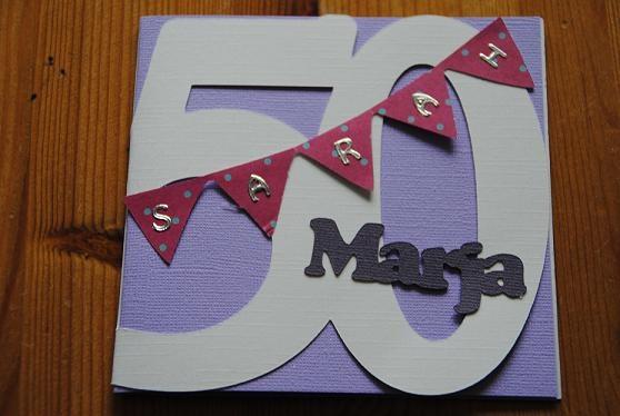uitnodiging voor een 50ste verjaardag