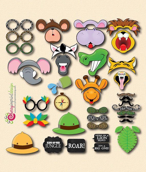 42 Hilarious Safari Themed Photo Booth by CherryImprintDesign