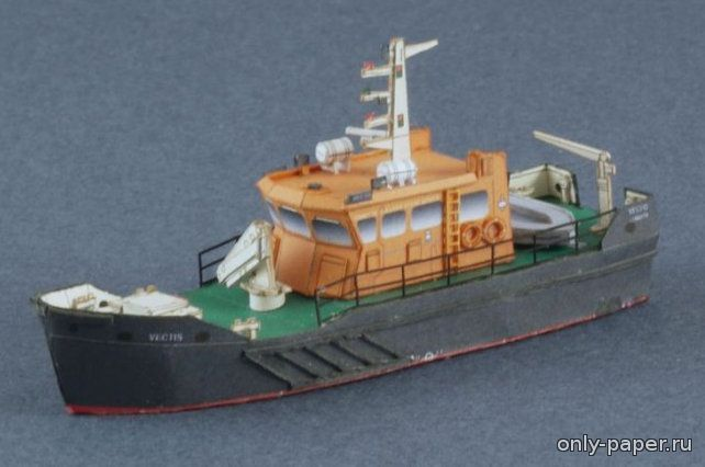 Awesome THV Vectis Workboat Free Ship Paper Model Download http papercraftsquare thv vectis workboat free ship paper model download html u